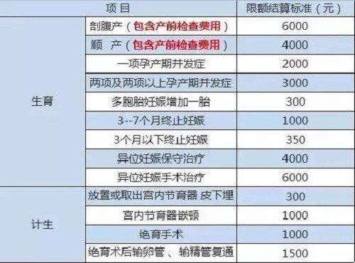 重庆生育保险能报多少钱